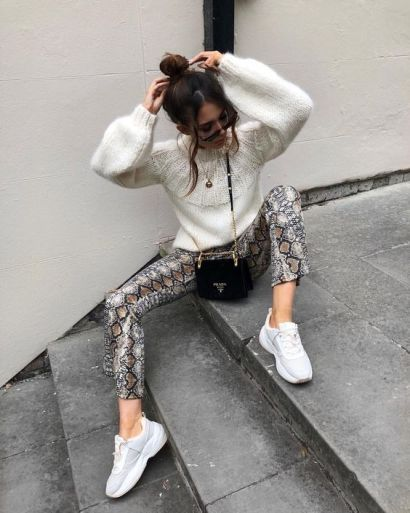 Street Styling The Snake Print Trouser Trend