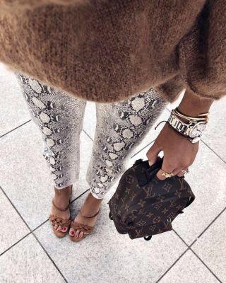 Dressing Up Snake Print Animal Print Trouser Trend 2019