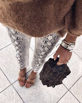 Dressing Up Snake Print Animal Print Trouser Trend 2019