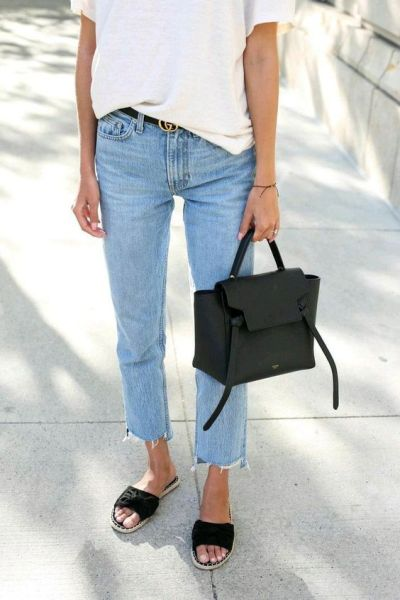 Denim How To Style The Perfect Chill Girl Weekend Brunch Outfit.